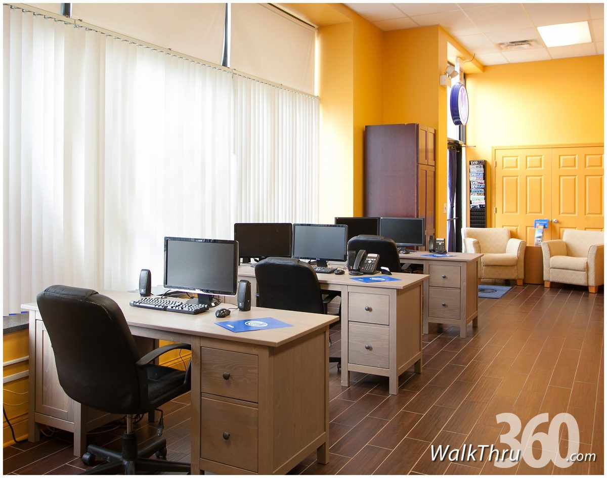 Insurance agency office virtual tour for google maps street view by WalkThru360 Chicago