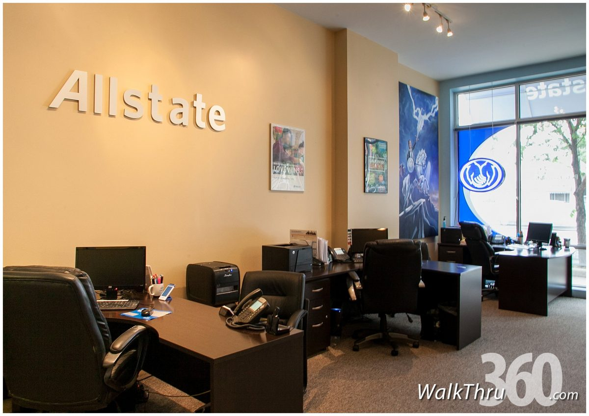 See inside street view Allstate Insurance Chicago - Pete Fernandez