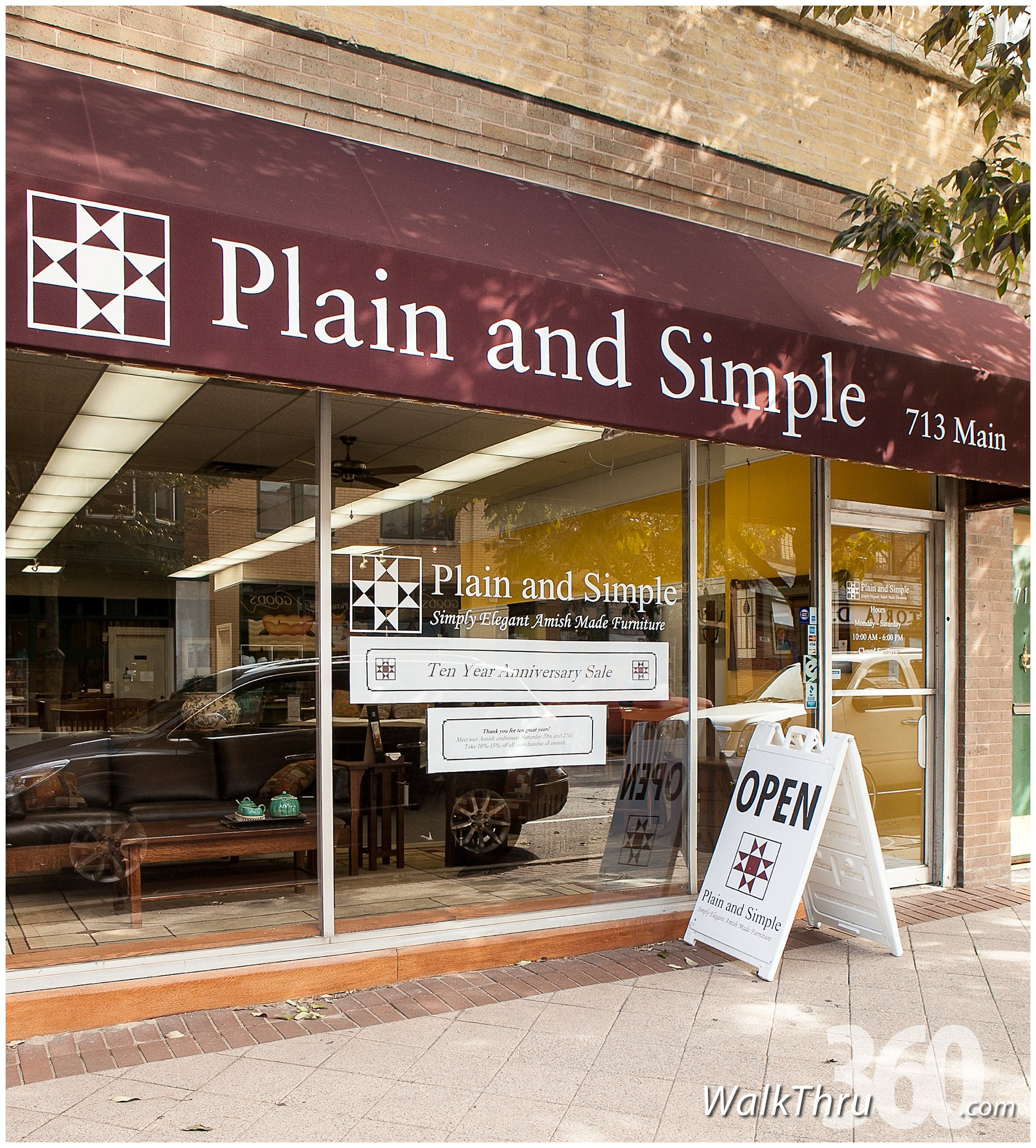 Plain And Simple Furniture Evanston Chicago Street View Trusted Photographer Walkthru360