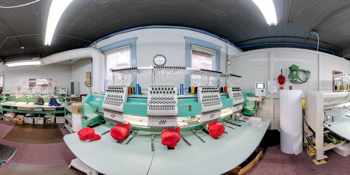 Hyperstitch Embroidery Industrial Facility Photography WalkThru360 Chicago