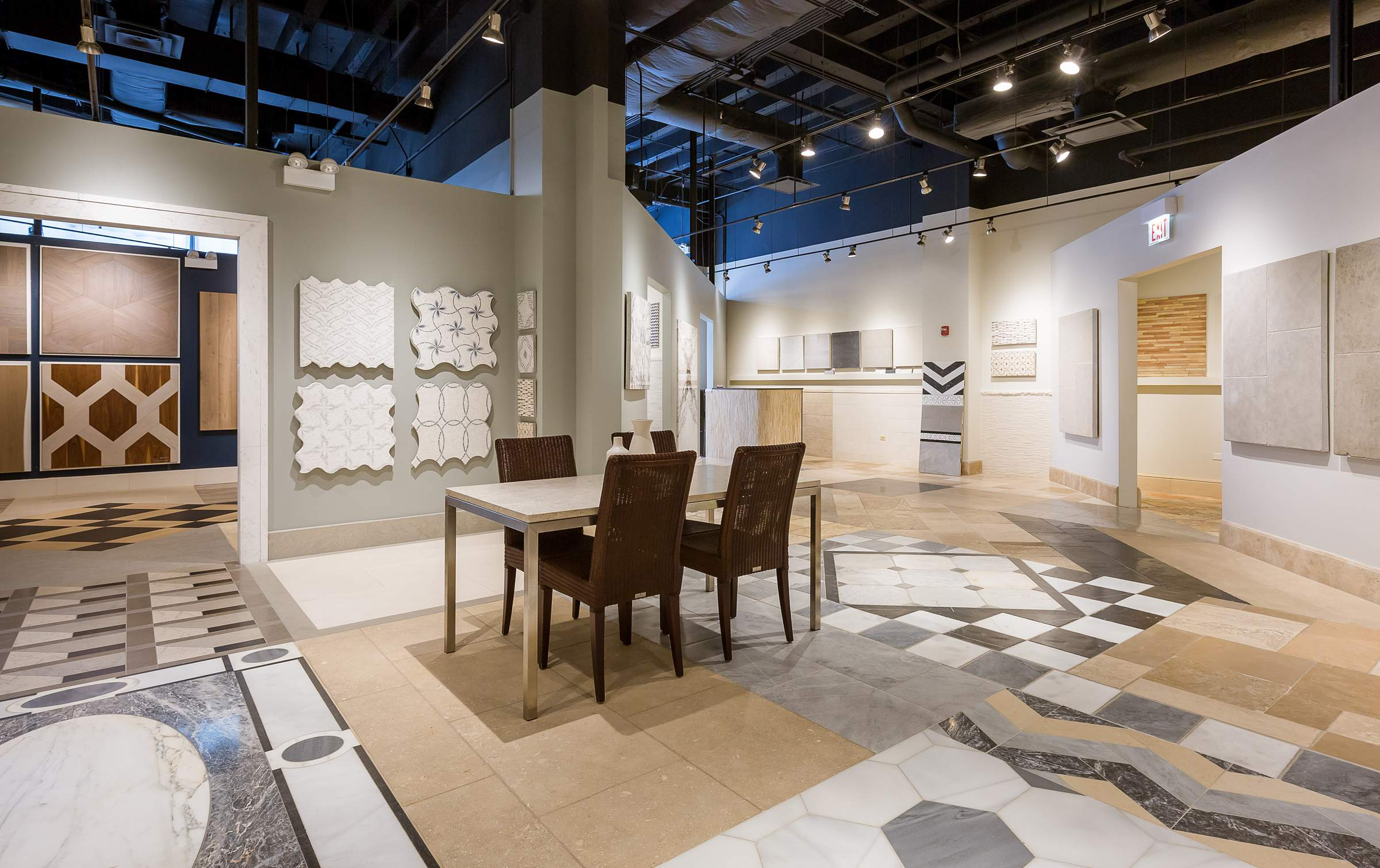 interior architectural photography for showrooms in home furnishings shop lux home