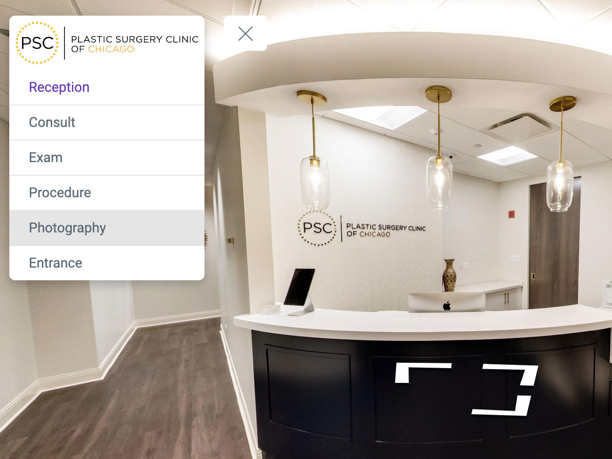 custom virtual tour on Google Maps Street View Medical office