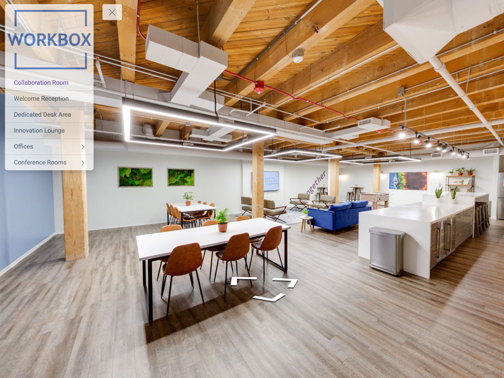 virtual tour for co-working office space chicago