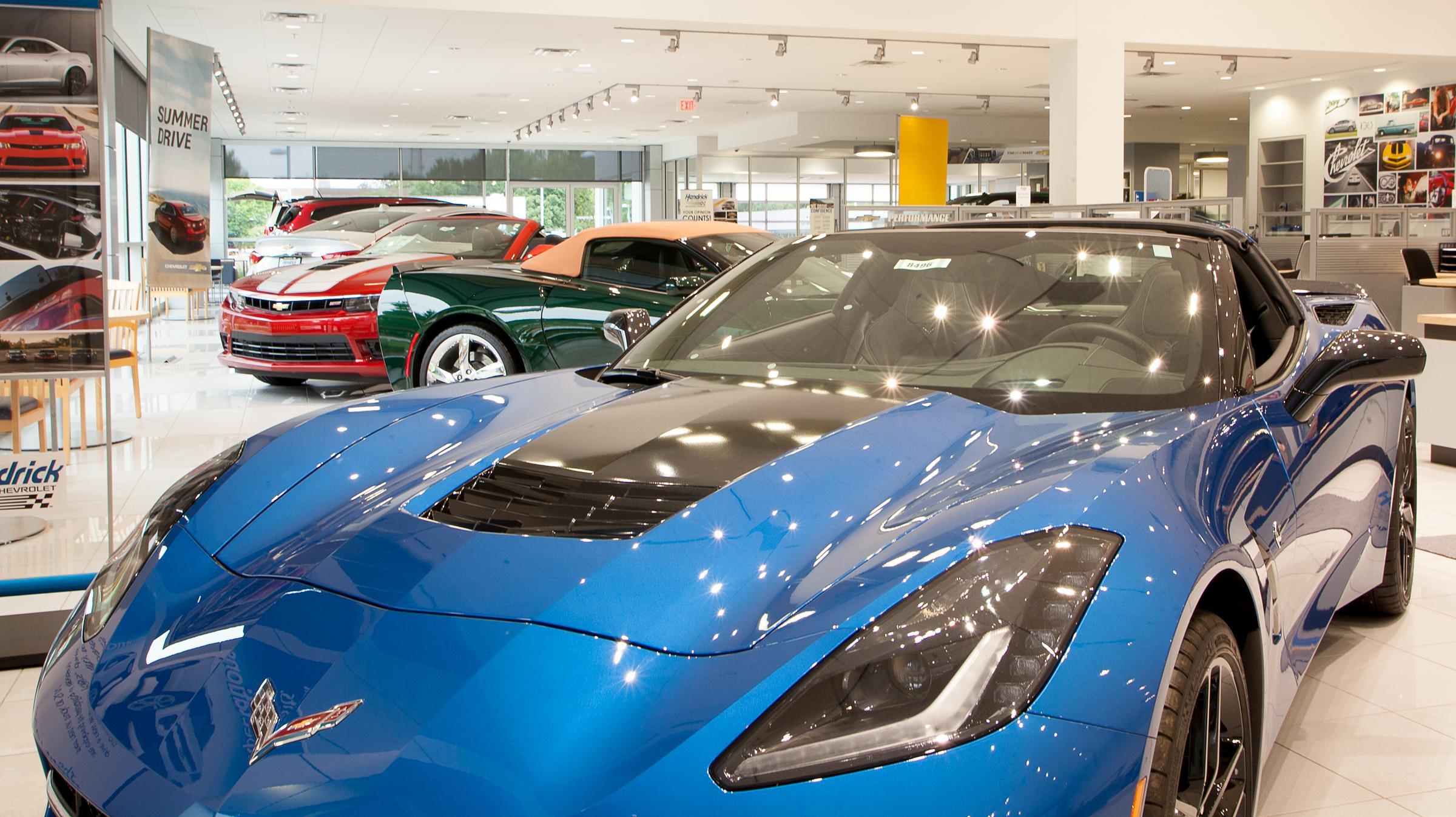 Corvette interior 360 virtual tour showroom auto dealership