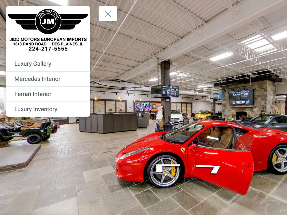 car dealership chicago virtual tour jidd motors luxury showroom