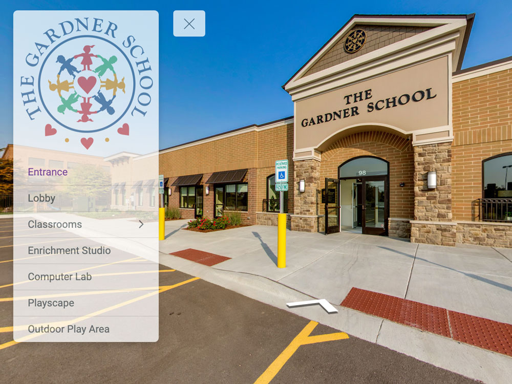 daycare and school virtual tour examples on google maps