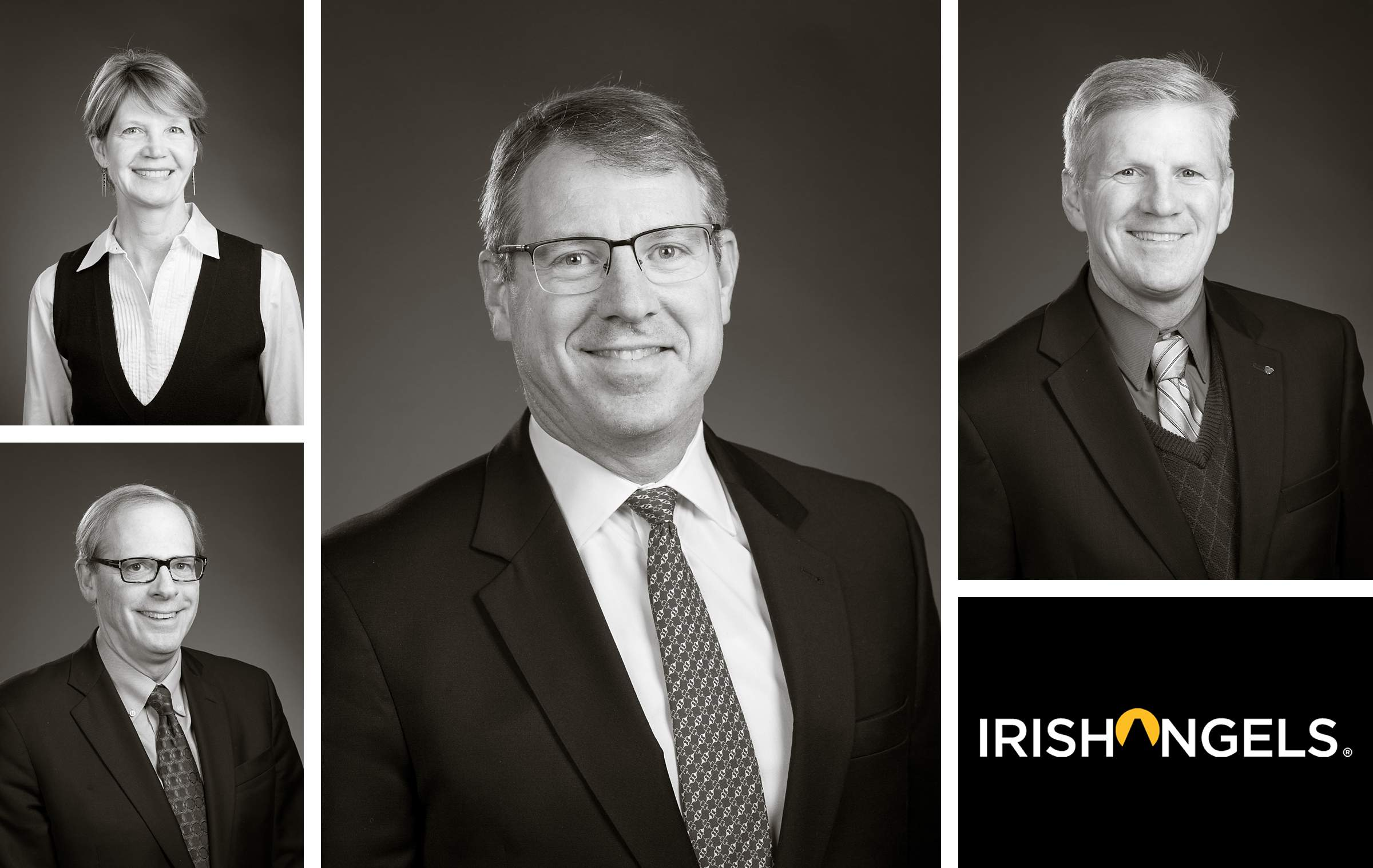 Black and white business headshot portrait for linkedin profile