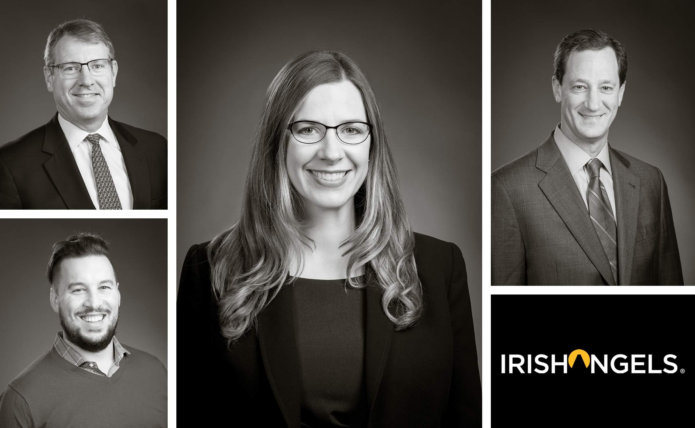 Black and white business headshot portrait for linkedin profile - Tom Schmidt Photogapher