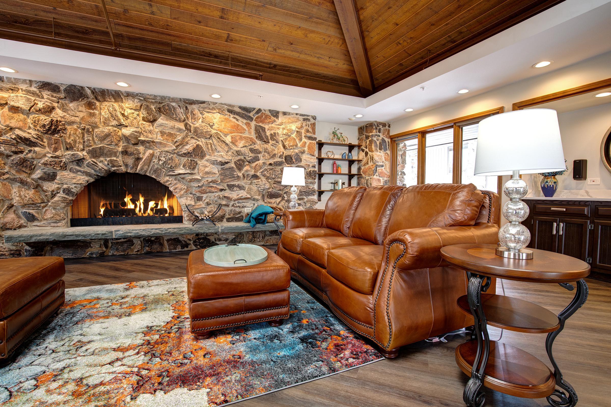 Shepherd Senior Living Bull Valley Matterport 3D Virtual Tour - couch near the fireplace