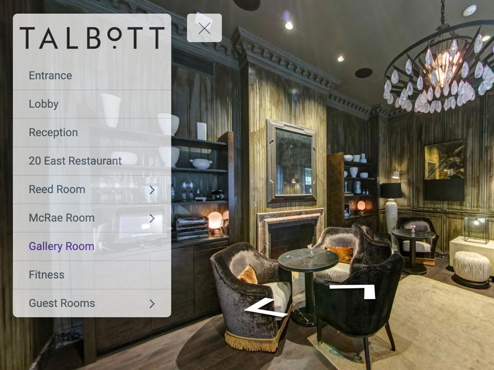 Virtual Tour of Talbott Hotel Chicago 360° Photographer