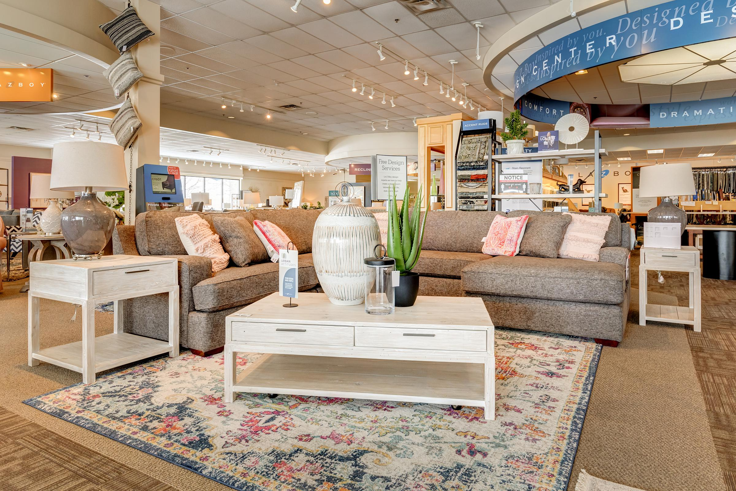 interior home furnishings store virtual tour la-z-boy